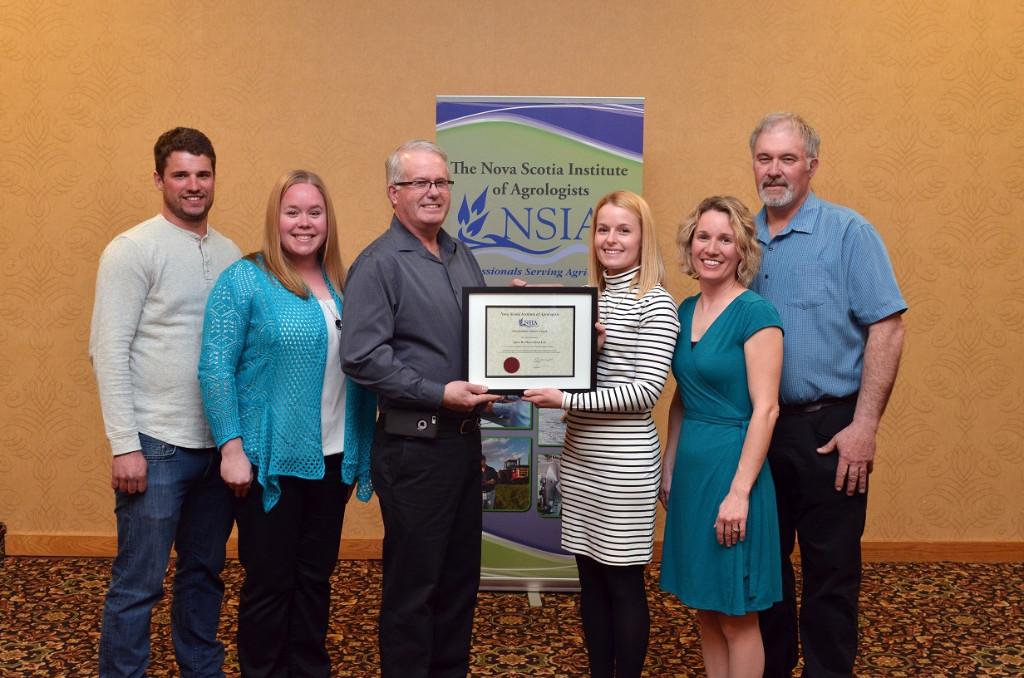 Outstanding Farmer Award 2015 Spurr Brothers Ltd. with President Jacqueline Hoyt, P.Ag.